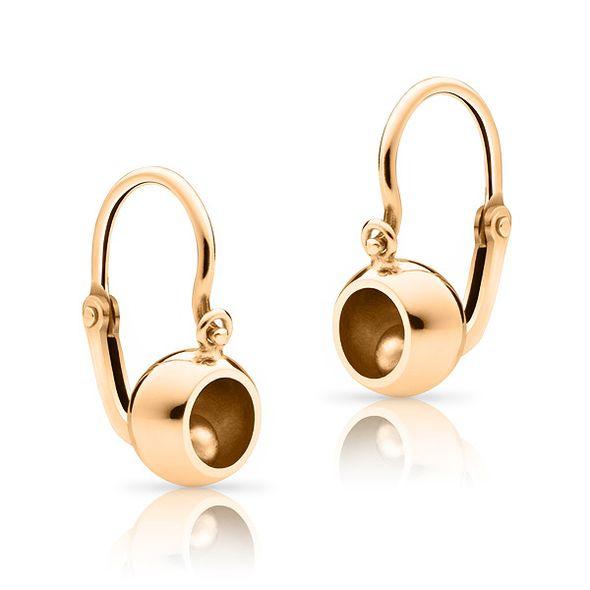 Baby earrings bubbbles rose