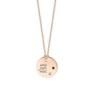 Golden chain - medallion with diamond