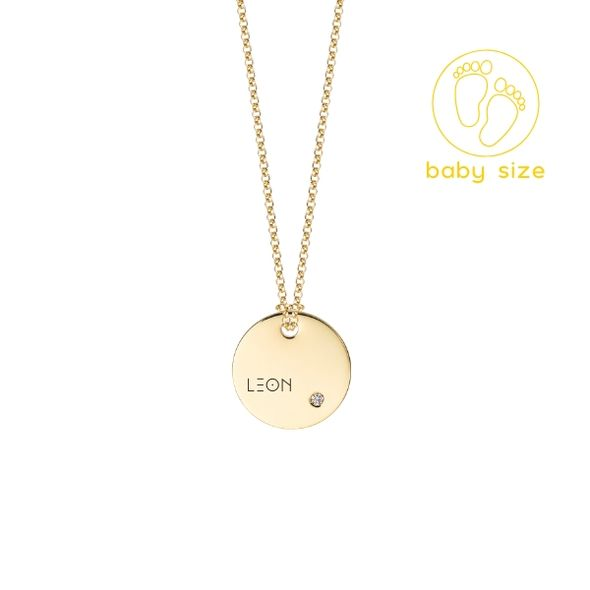 Golden chain with diamond BABY