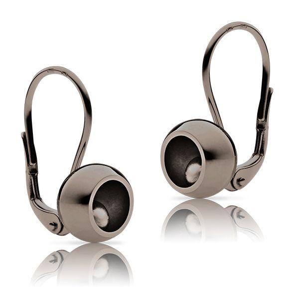 """Golden ladies´ earrings """"Bubbbles black"""""""