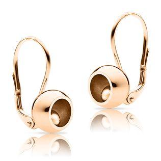 """Golden ladies´ earrings """"Bubbbles rose"""""""