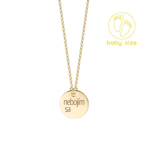 """Golden chain """"not afraid"""" BABY"""